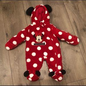 Disney Minnie Mouse newborn snowsuit
